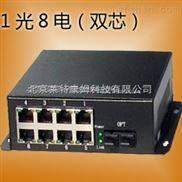 电口百兆双芯光纤收发器