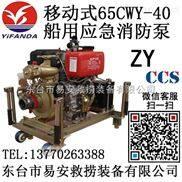 65CWY-40船用应急柴油机消防泵