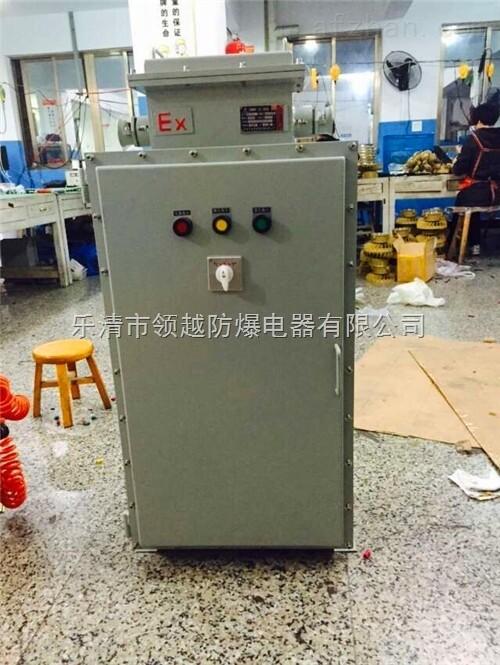 自耦变压防爆星三角启动器适用于交流380v,50hz或60hz,功率3-95kw接成