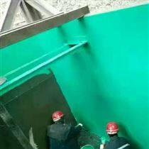 陕西延安脱硫塔防腐高温玻璃鳞片铁门翻新漆