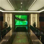 多媒體會議10平方P1.6LED大屏幕