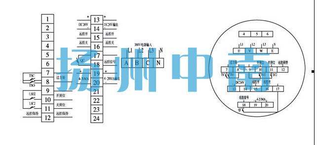 一、Z20-24W/Z智能一体化电动装置简介 机电一体化多回转阀门电动装置DZZ广泛应用于工业驱动闸阀,截止阀,大口径蝶阀和大口径球阀等做多回转的阀门,产品性能稳定,手电动自由切换,操作简单!机电一体化DZZ多回转阀门电动装置把电气控制部分与常规电装合成一体简称整体式一体化电装。有一体化开关型,隔爆一体化开关型两种。本系列电装对用户安装,调试,检修十分方便,可大大地节省安装费用,缩短安装周期,可现场按钮连续操作,也可远控,集控和自控,内部有相序识别及缺相保护功能,防护等级IP65(最高为67) 二、Z20