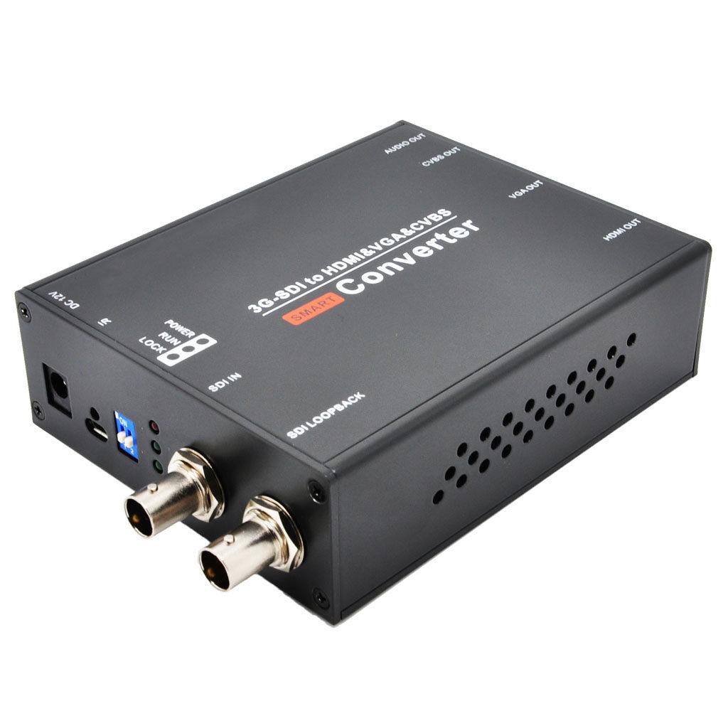 接口sdi信号转换为hdmi,vga和av(cvbs)信号输出的视频格式转换设备.