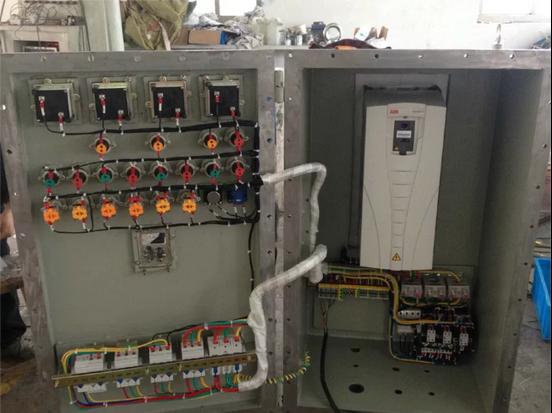 22kw变频器防爆控制柜不锈钢(带变频器显示屏)