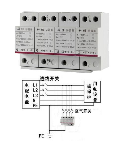 浪涌保护器接线方法【图文详情】
