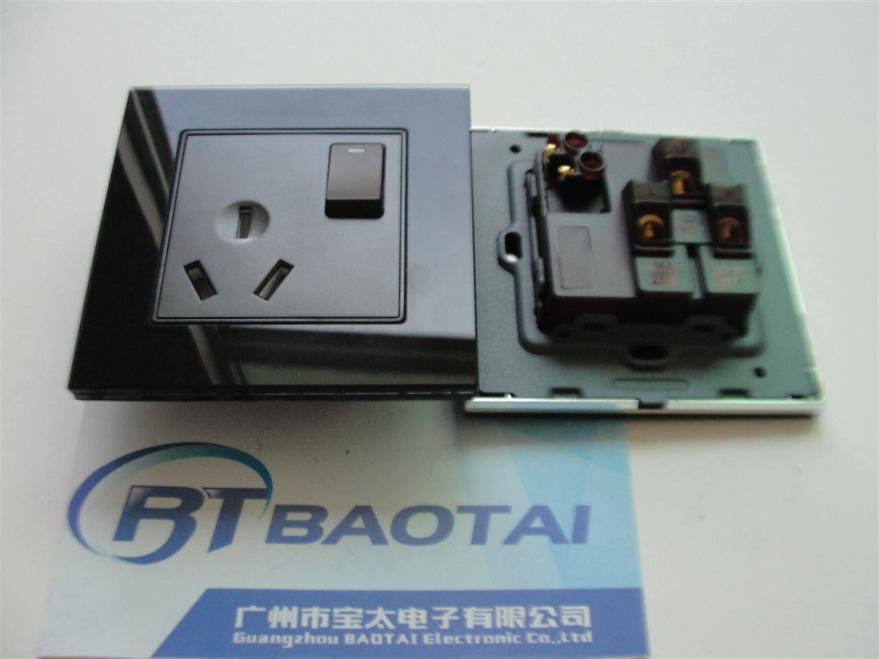 86型一开三孔插座-宝太86型16a空调电源插座带开关