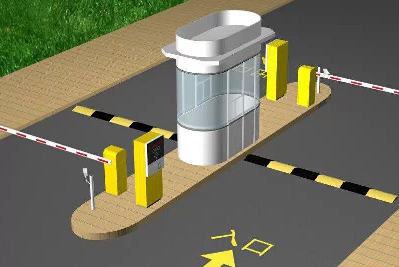 说明:当停车场管理收费系统为一进一出时