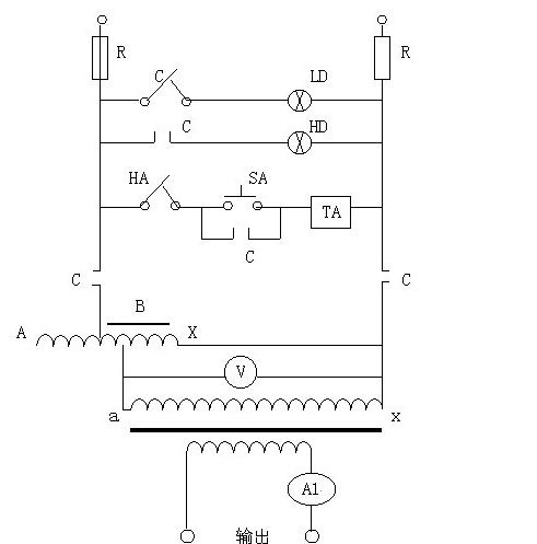 五,交流 大电流发生器使用方法 1,按电气原理图接好工作线路,变压器
