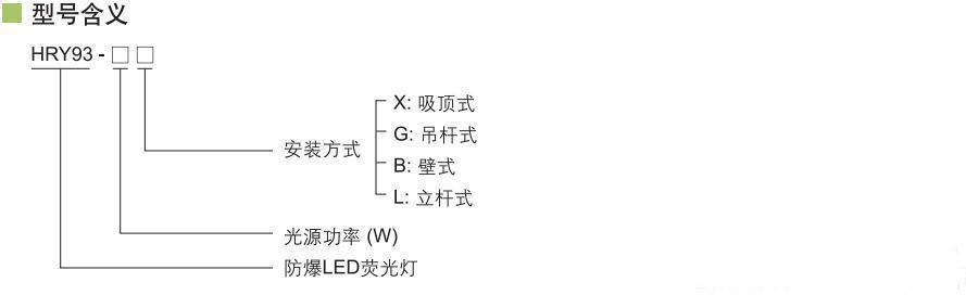 防爆高效节能led应急荧光灯 hry93-40x/20g华荣同款